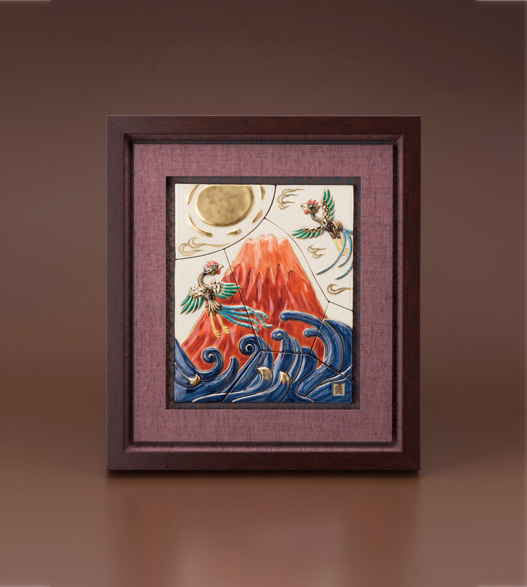 赤富士陶額