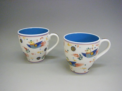 1.ペルシア色絵エルカップ-ペア